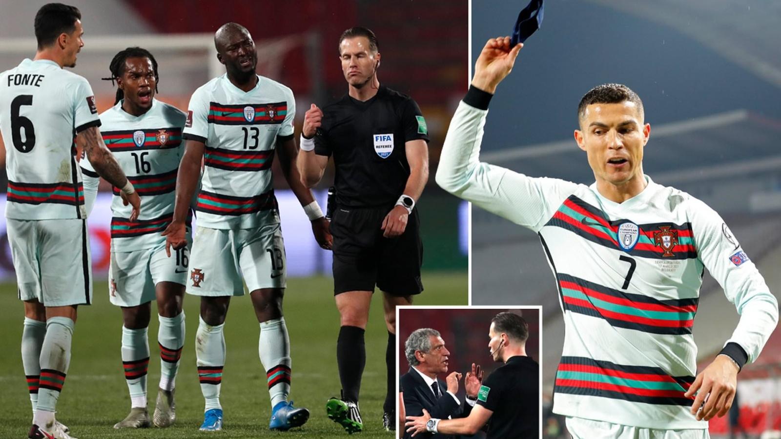 """Trọng tài xin lỗi Cristiano Ronaldo sau vụ """"cướp bàn thắng"""""""