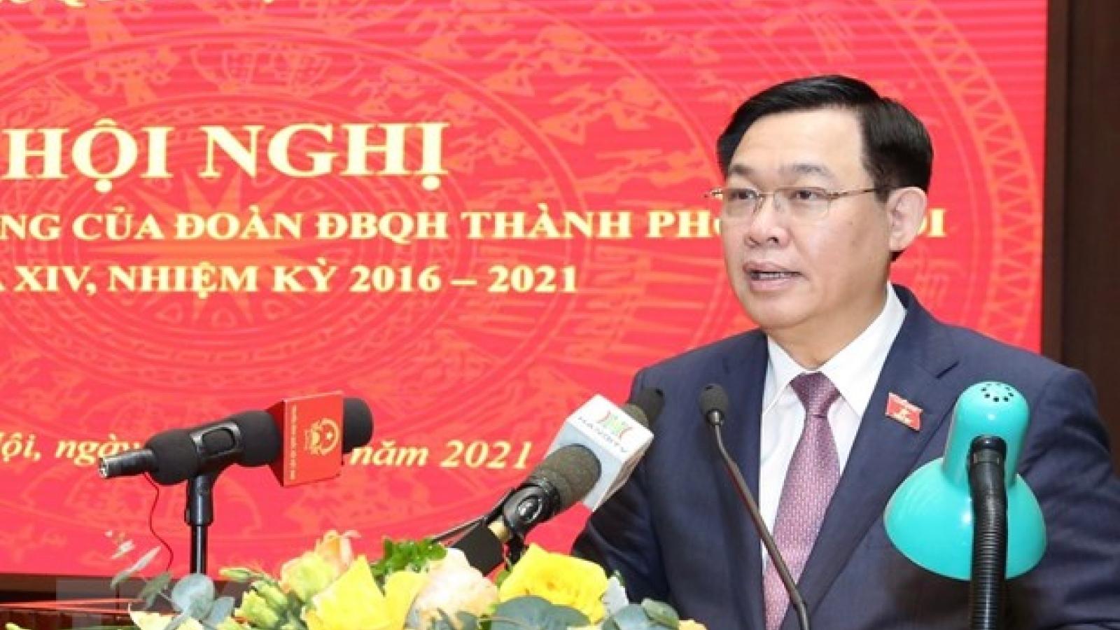 Bí thư Hà Nội Vương Đình Huệ: Vấn đề bức xúc cần được trả lời ngay tại tiếp xúc cử tri