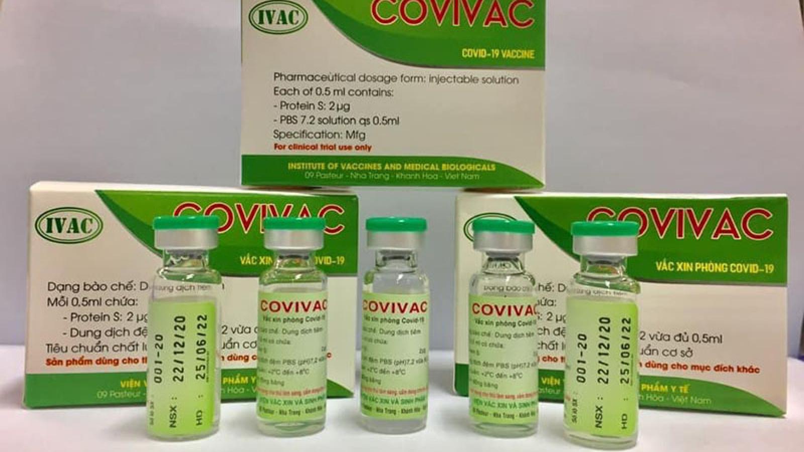 Tuyển tình nguyện viên từ 40-59 tuổi thử nghiệm vaccine COVIVAC