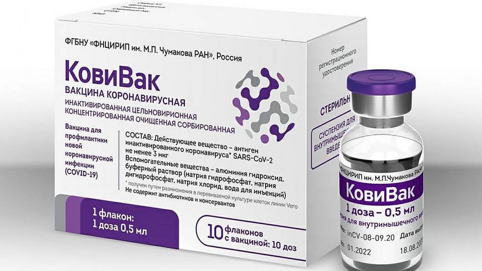 Nga đã chính thức sản xuất vaccine thứ 3 ngừa Covid-19