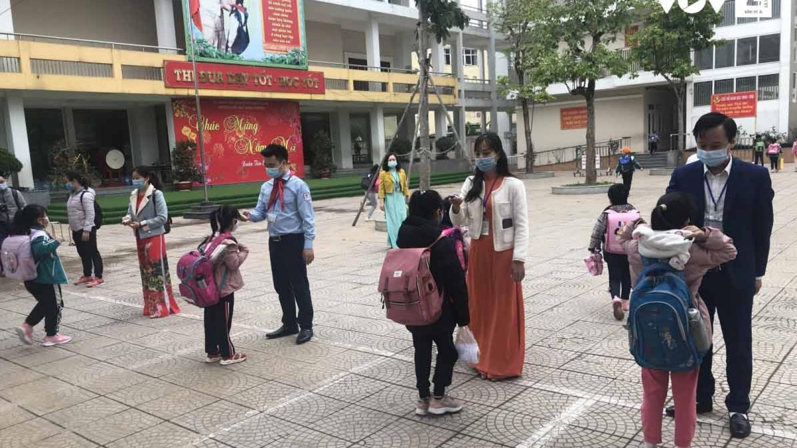 Trường Tiểu học Xuân Phương: Một học sinh duy nhất vẫn học online