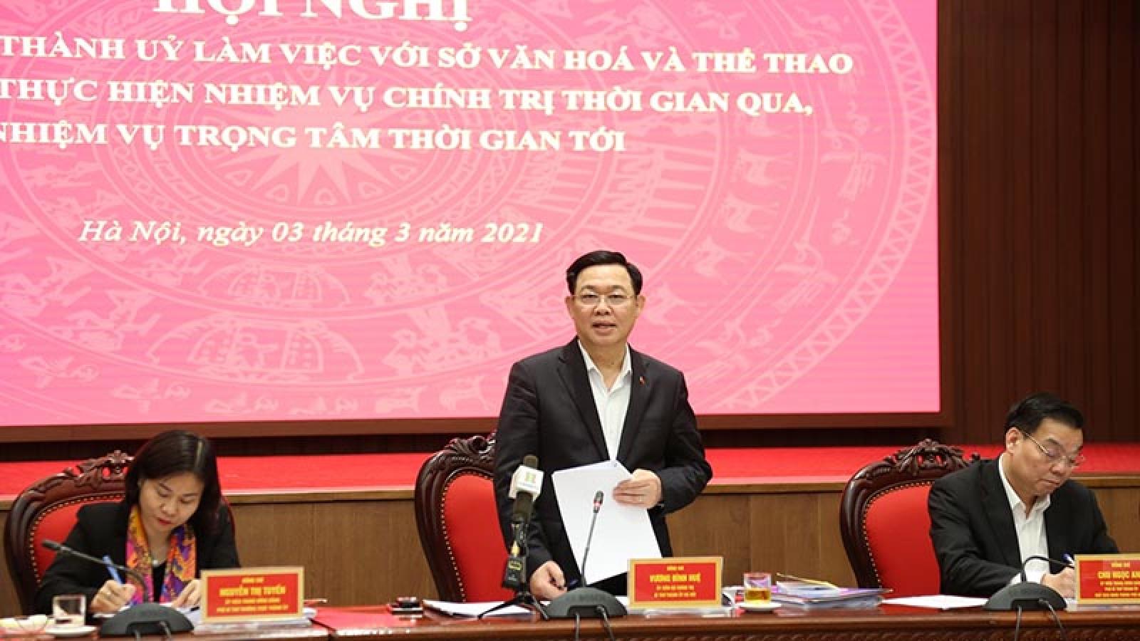 Bí thư Thành ủy Vương Đình Huệ: Đưa văn hóa thành nguồn lực quan trọng của thủ đô