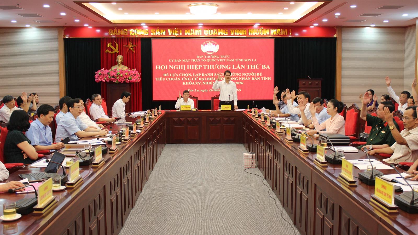 Sơn La thống nhất10ứng cử viên ĐBQHvà 110 ứng cử HĐND tỉnh