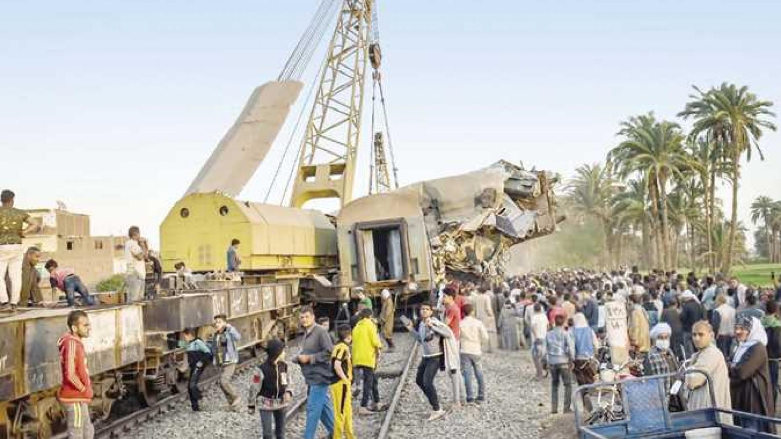 Ai Cập công bố kết quả điều tra nguyên nhân vụ tai nạn tàu hỏa thảm khốc ở Sohag