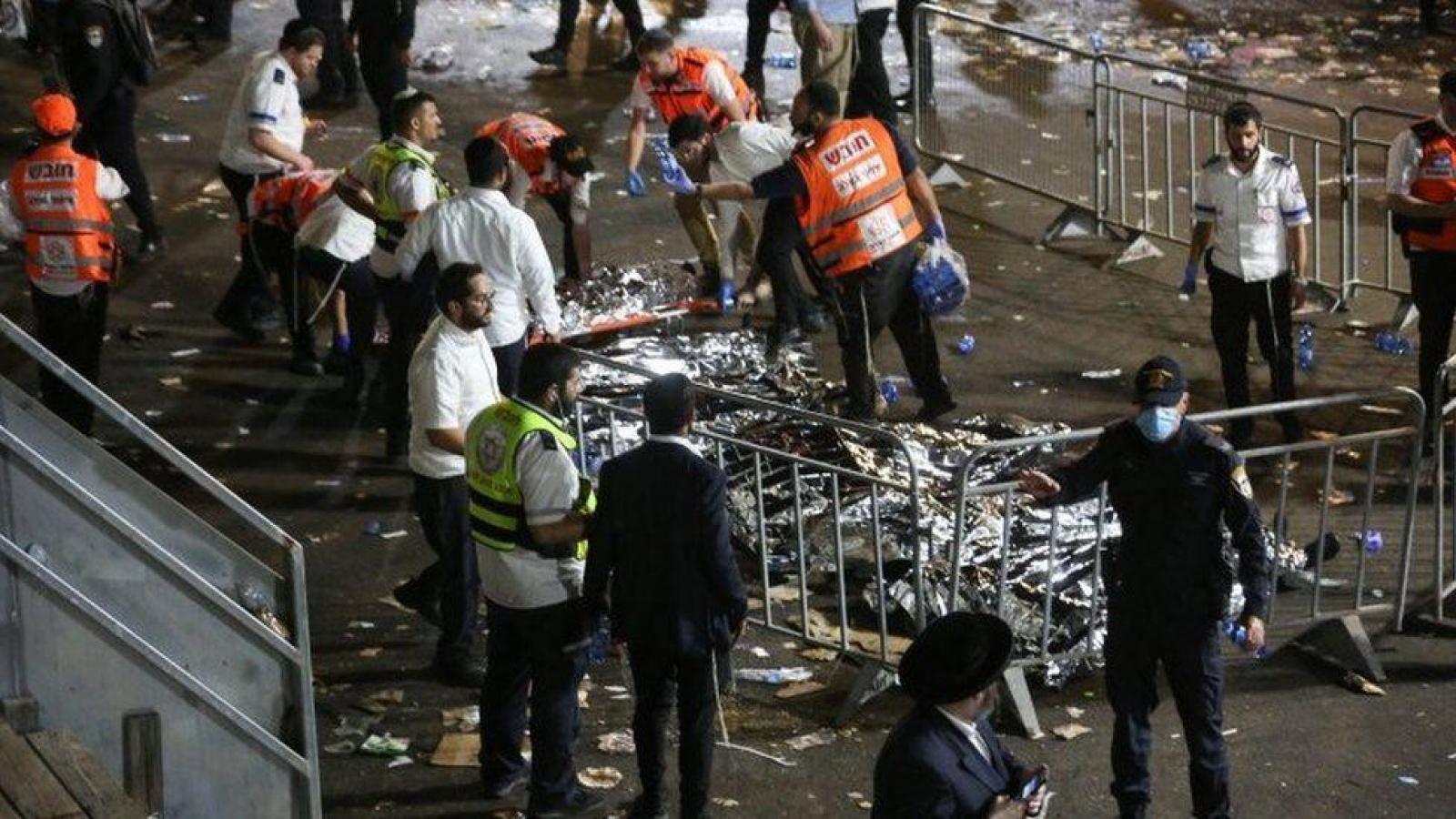 Giẫm đạp tại lễ hội tôn giáo ở Israel, ít nhất 38 người thiệt mạng