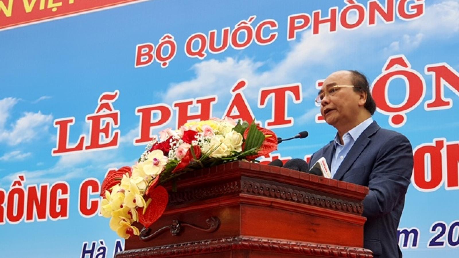 Chủ tịch nước Nguyễn Xuân Phúc dự lễ phát động trồng cây tại di tích K9-Đá Chông