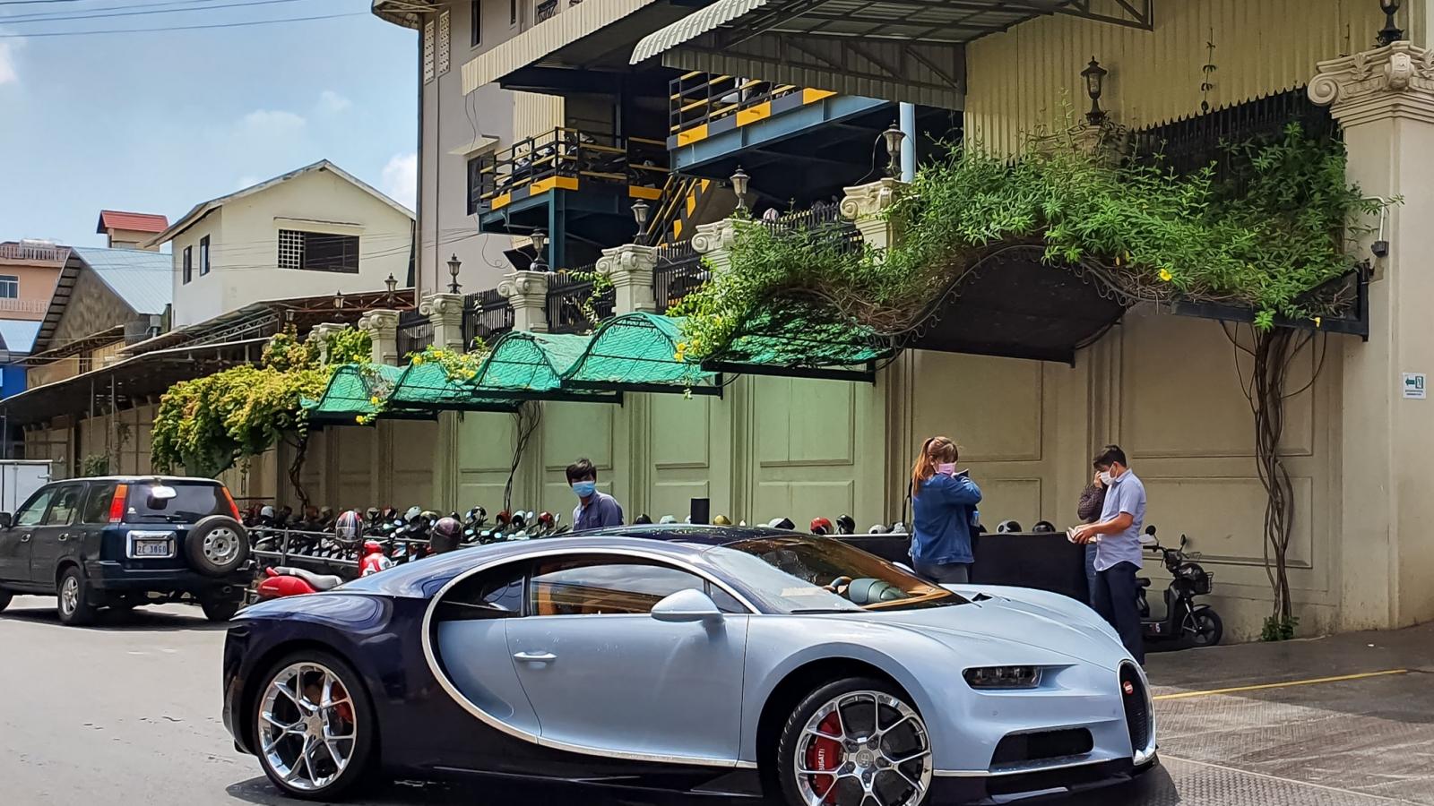 Bugatti Chiron thứ ba đặt chân đến Campuchia