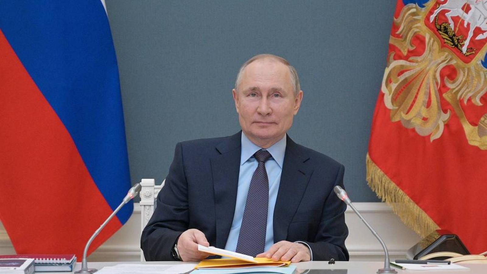 Tổng thống Nga Putin sẽ tham dự hội nghị thượng đỉnh về khí hậu