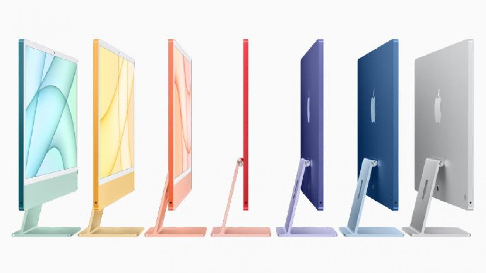 iMac thế hệ mới ra mắt với chip M1, nhiều màu sắc lôi cuốn