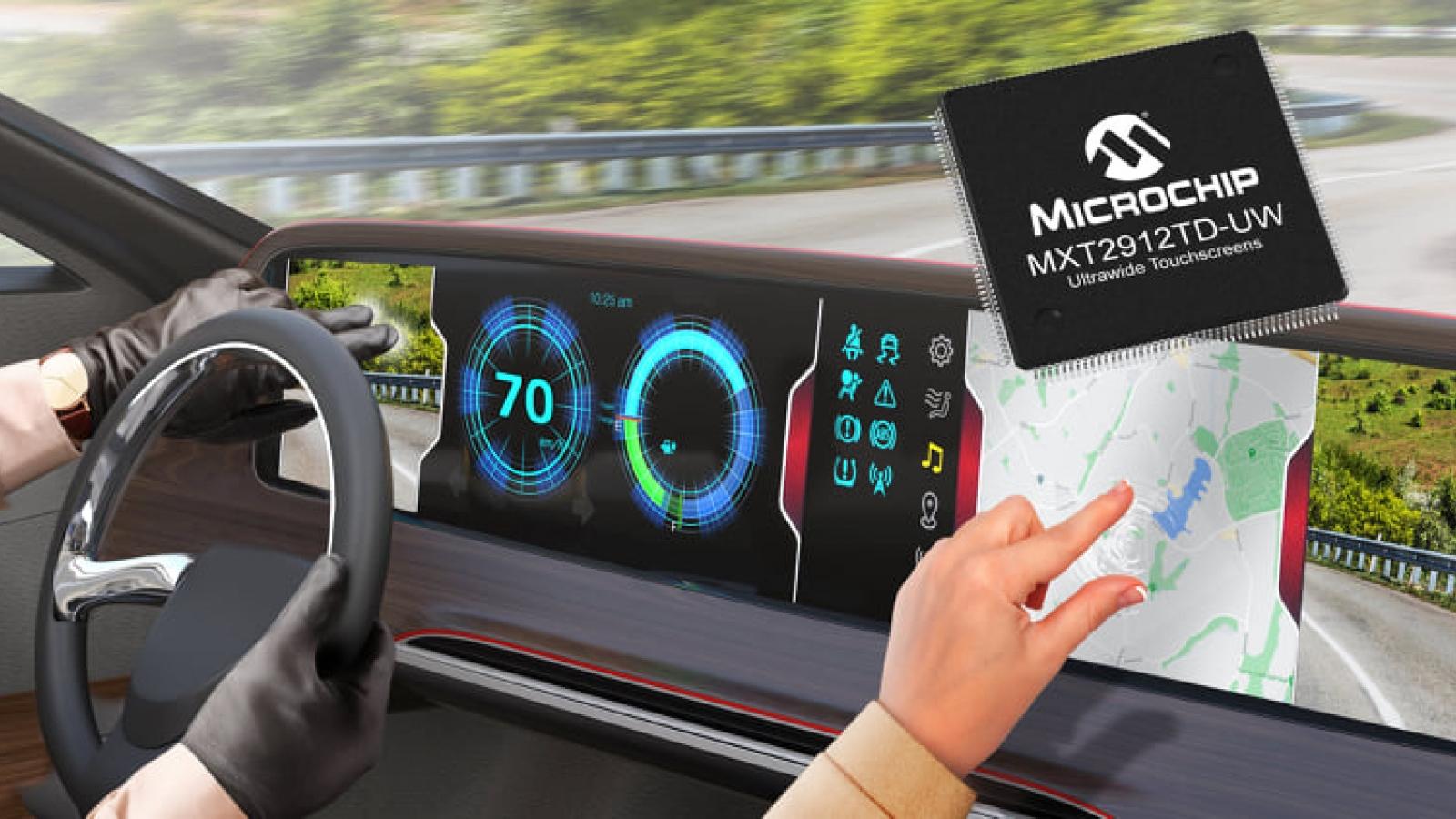 Ra mắt chip điều khiển dành cho màn hình cảm ứng siêu rộng trên ô tô