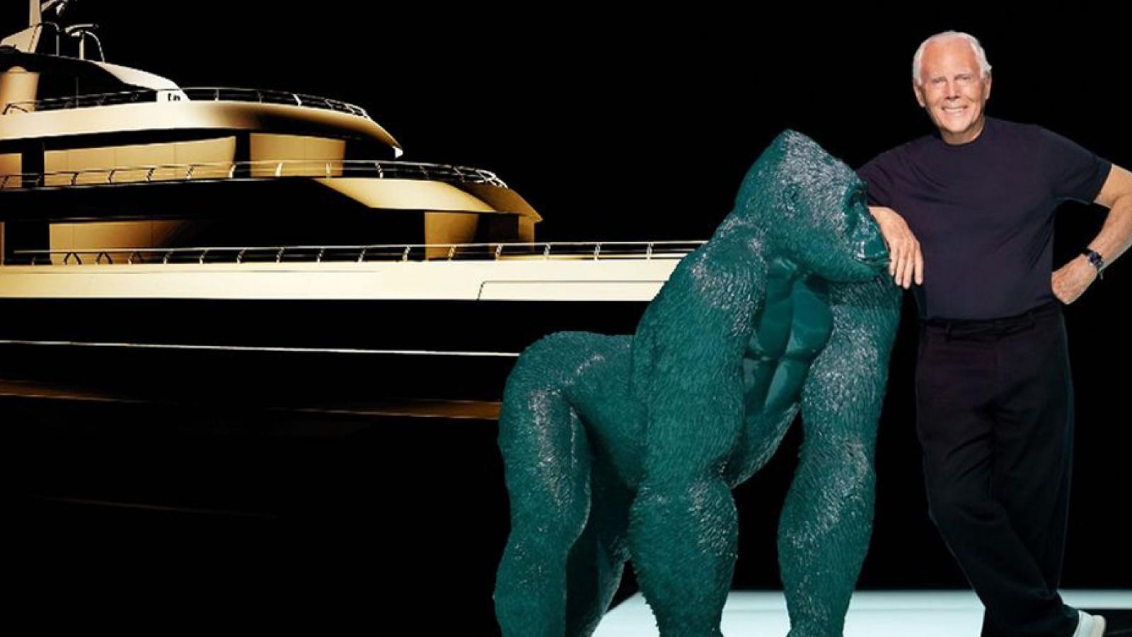 Tỷ phú Giorgio Armani công bố thiết kế siêu du thuyền dài 72m