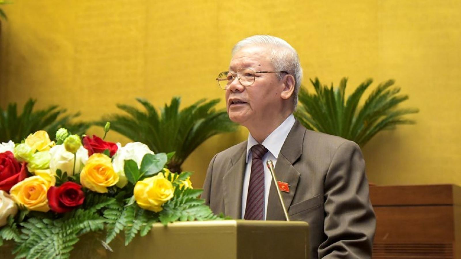 Quốc hội bắt đầu quy trình miễn nhiệm Chủ tịch nước Nguyễn Phú Trọng