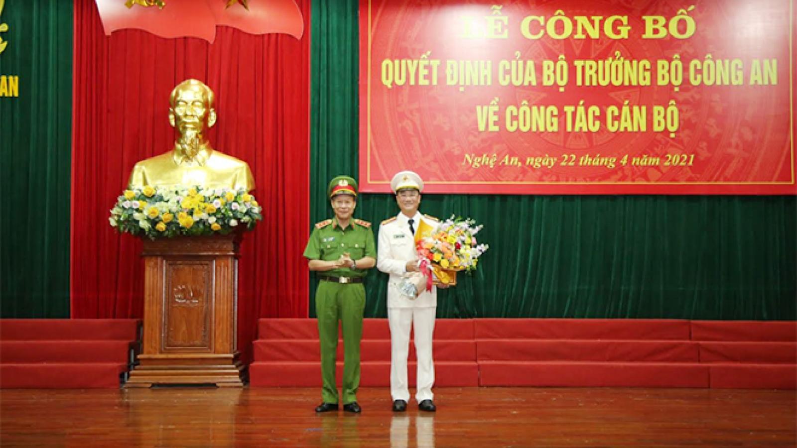 Giám đốc Công an tỉnh Bắc Ninh được điều động làm Giám đốc Công an tỉnh Nghệ An
