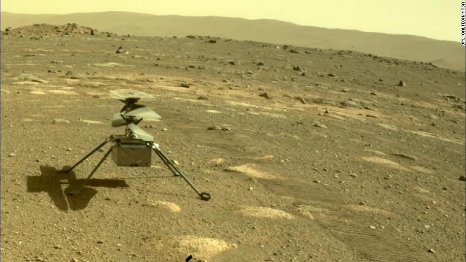Trực thăng Ingenuity của NASA tạo ra kỳ tích đầu tiên trên sao Hỏa
