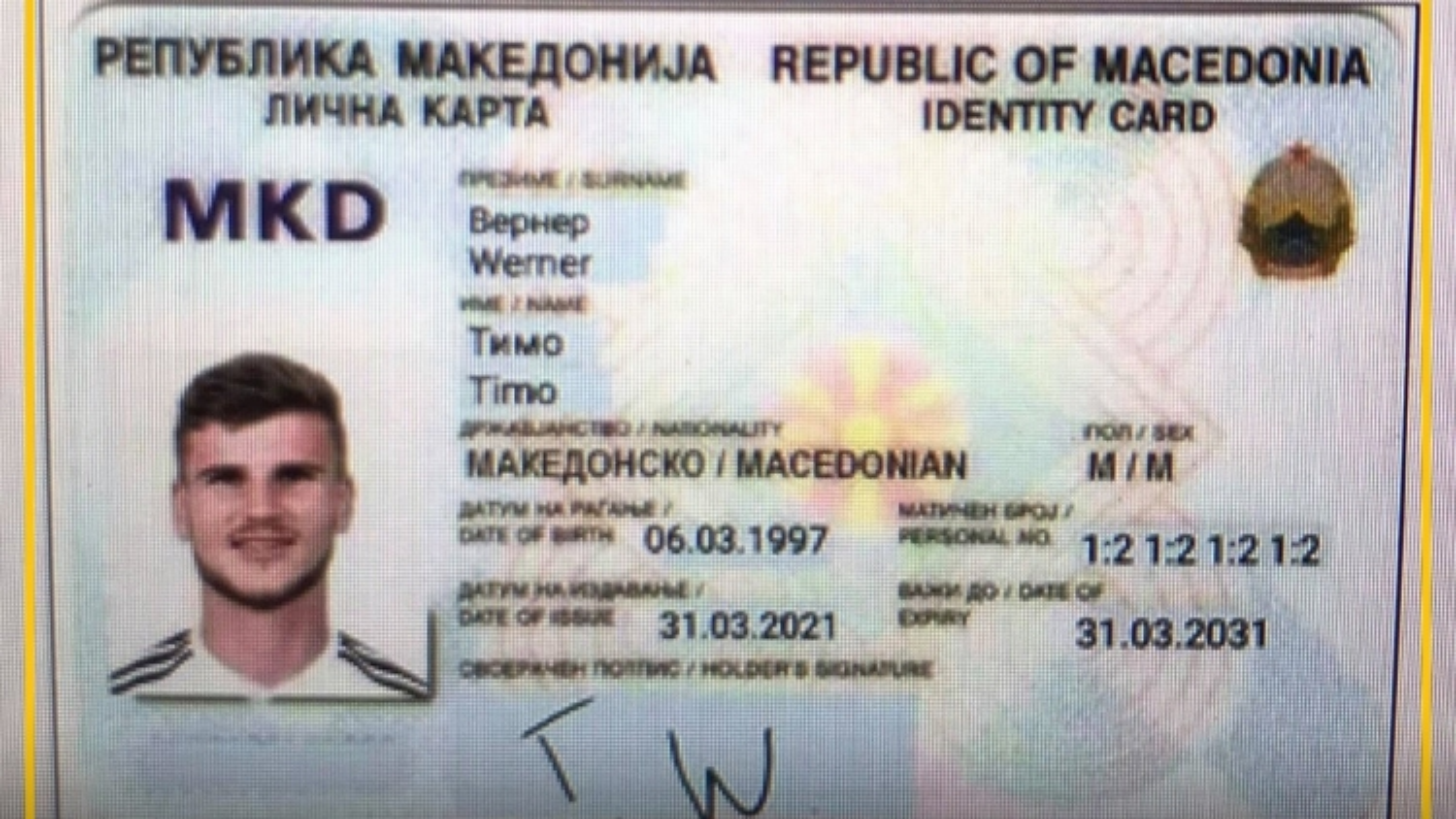 Biếm họa 24h: Werner được... cấp quốc tịch Bắc Macedonia