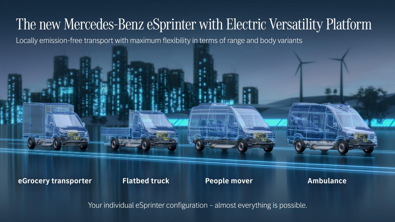 Mercedes xác nhận sẽ cung cấp xe van chạy điện - eSprinter vào 2023