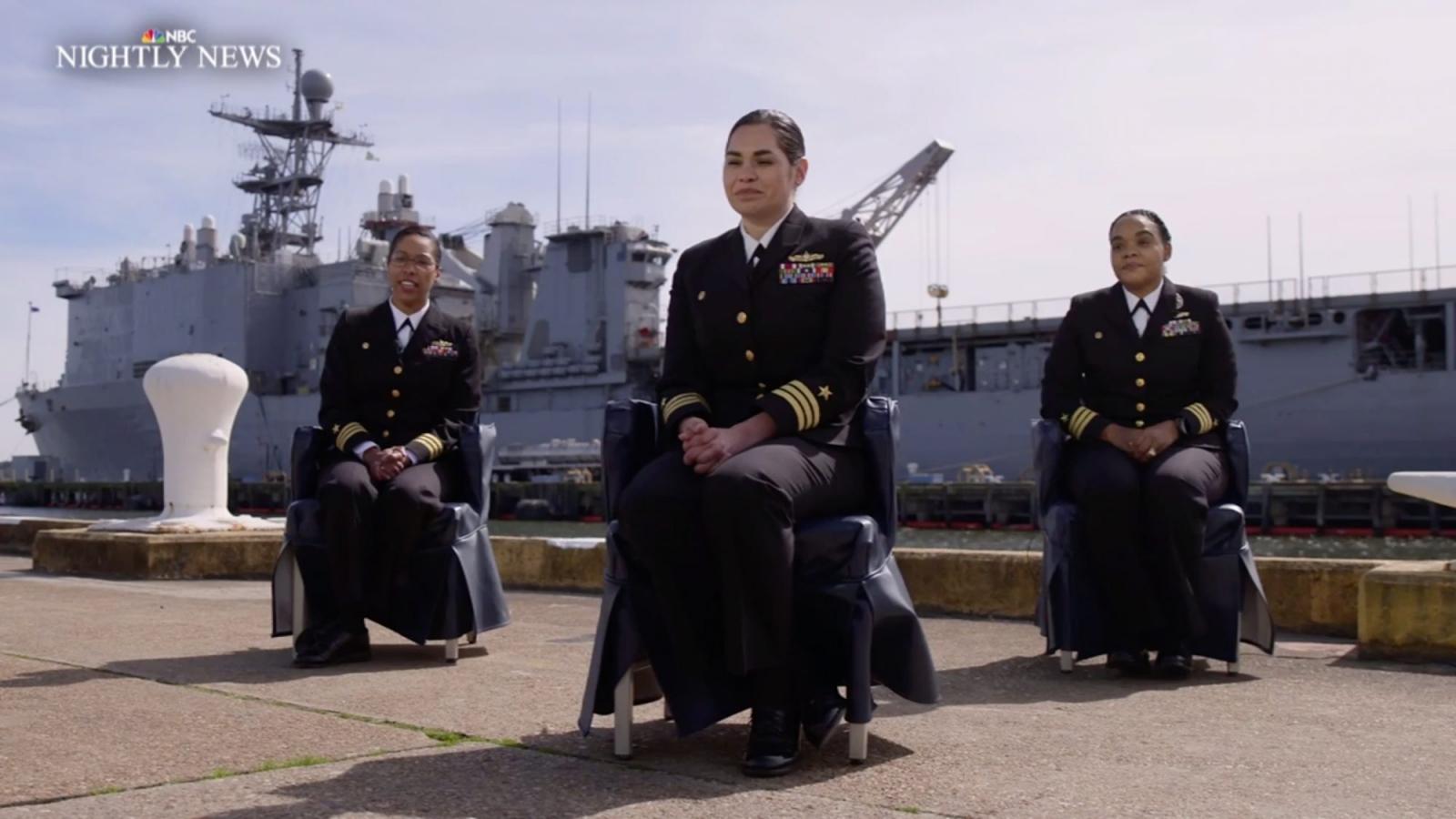 Lần đầu tiên Mỹ có 4 chỉ huy chiến hạm là phụ nữ da màu