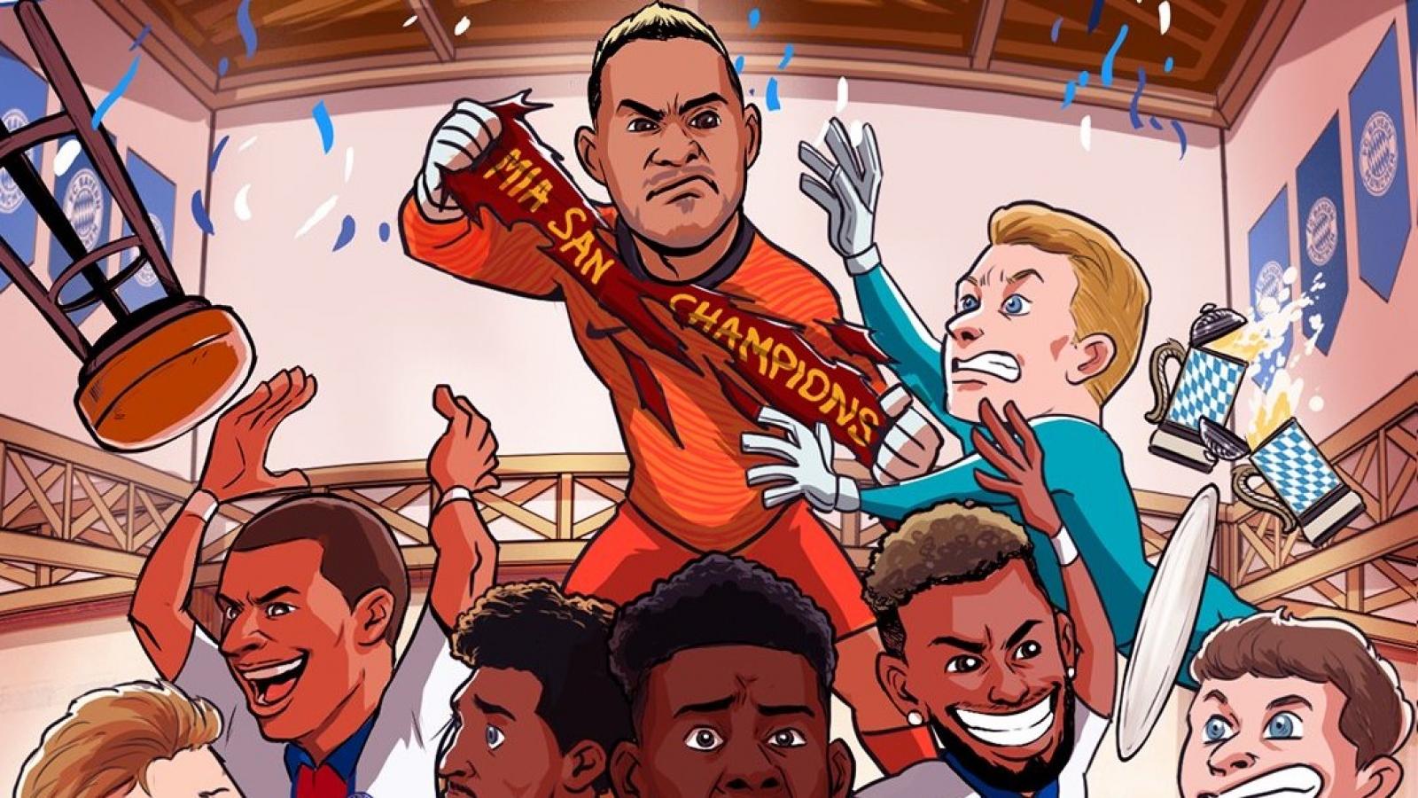 """Biếm họa 24h: PSG đánh sập """"pháo đài"""" Allianz Arena"""