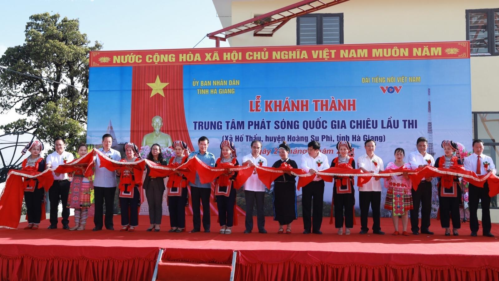 Đài Tiếng nói Việt Nam khánh thành Trung tâm Phát sóng Quốc gia Chiêu Lầu Thi
