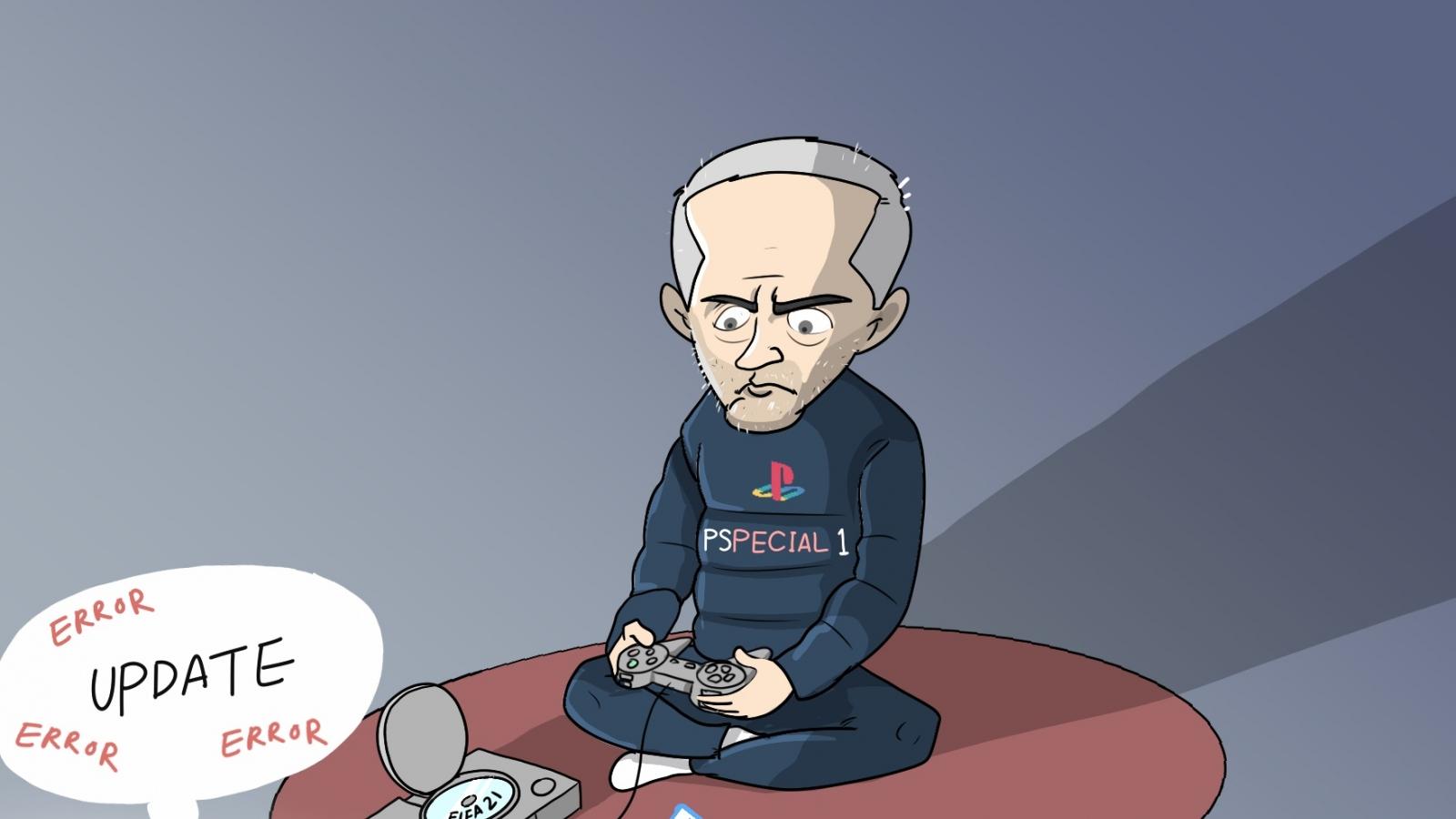 Biếm họa 24h: Mourinho nâng cấp cầu thủ thất bại và cái kết đắng
