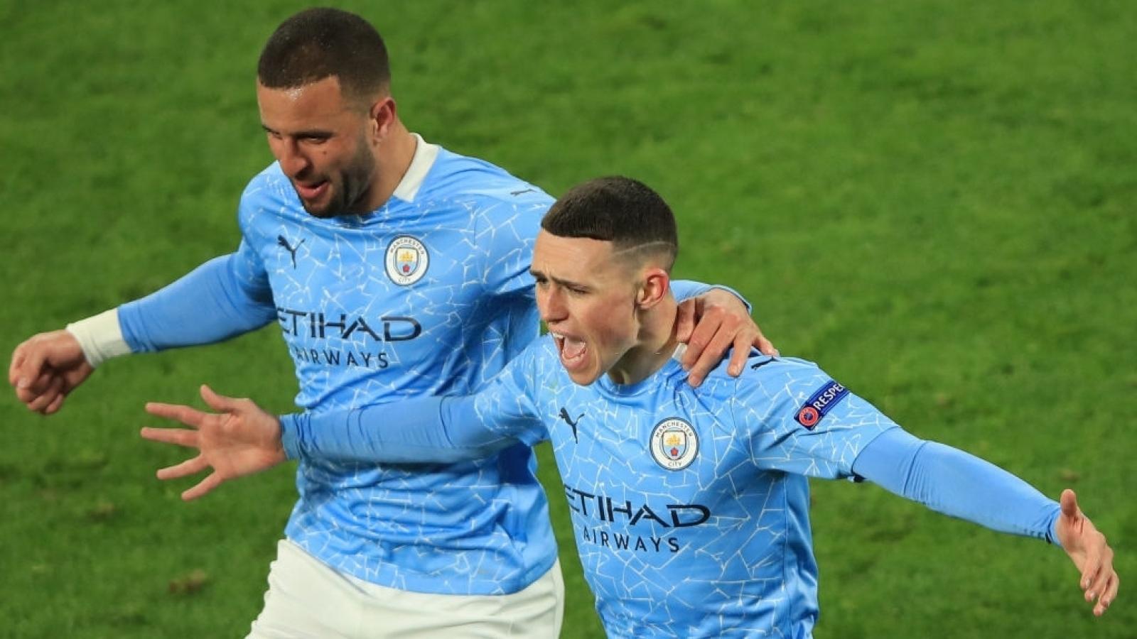 Đánh bại Dortmund, Man City gặp PSG ở bán kết Champions League