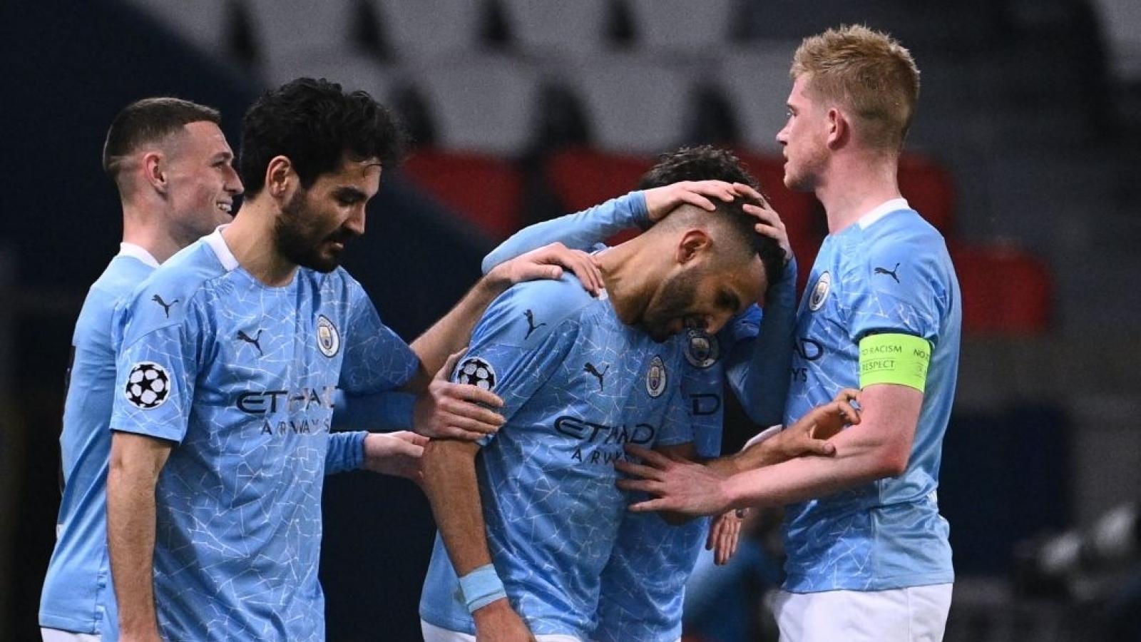 De Bruyne và Mahrez lập công, Man City ngược dòng ấn tượng trước PSG