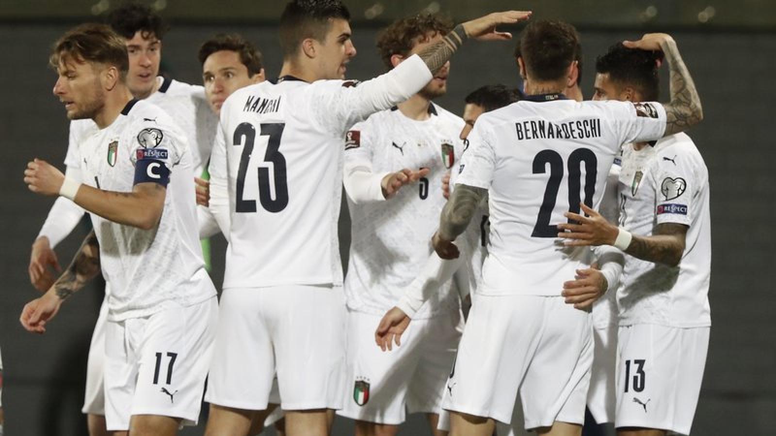 Kết quả vòng loại World Cup 2022 khu vực châu Âu (1/4): Italy thắng nhọc, Đức thua sốc