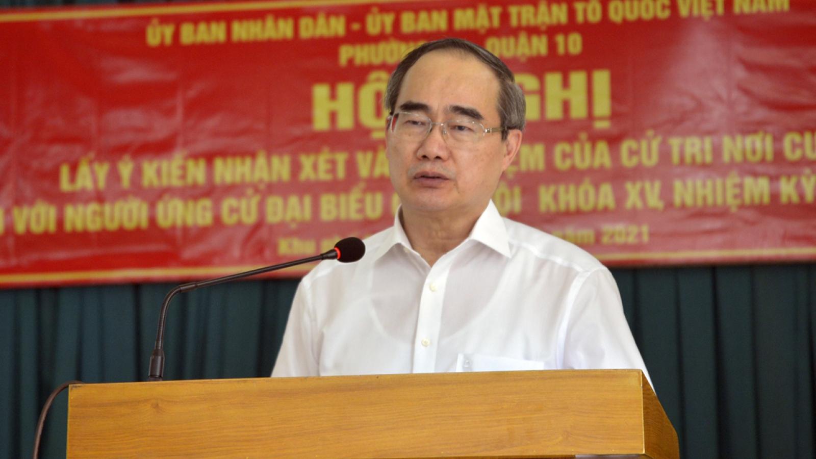 Cử tri đồng ý giới thiệu ông Nguyễn Thiện Nhân ứng cử ĐBQH khoá XV