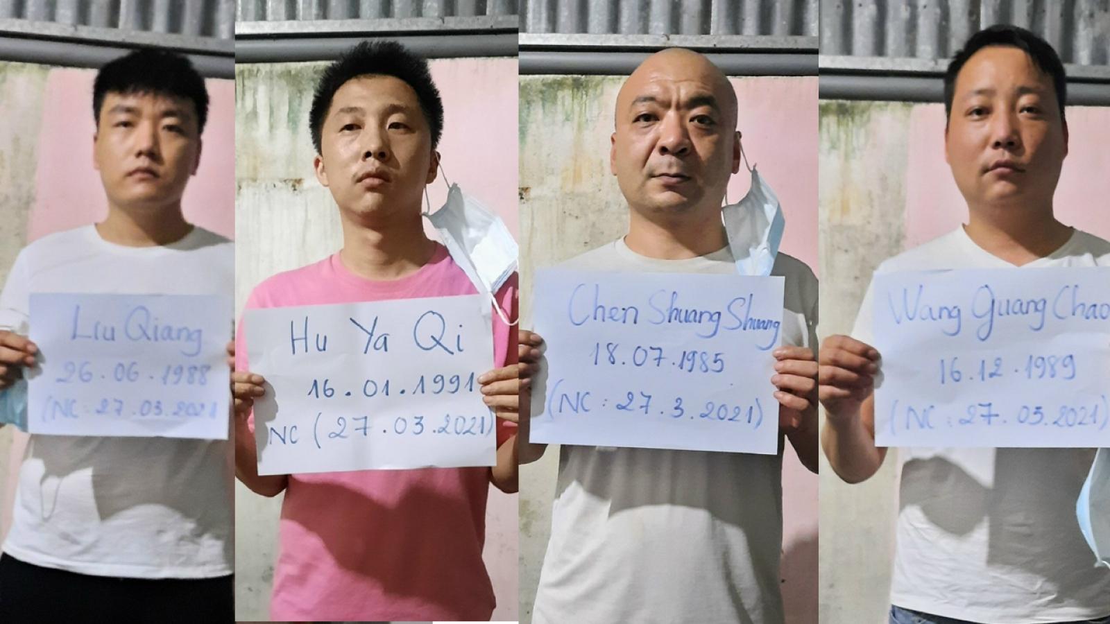 Bắt giữ4 người Trung Quốc xuất, nhập cảnh trái phép