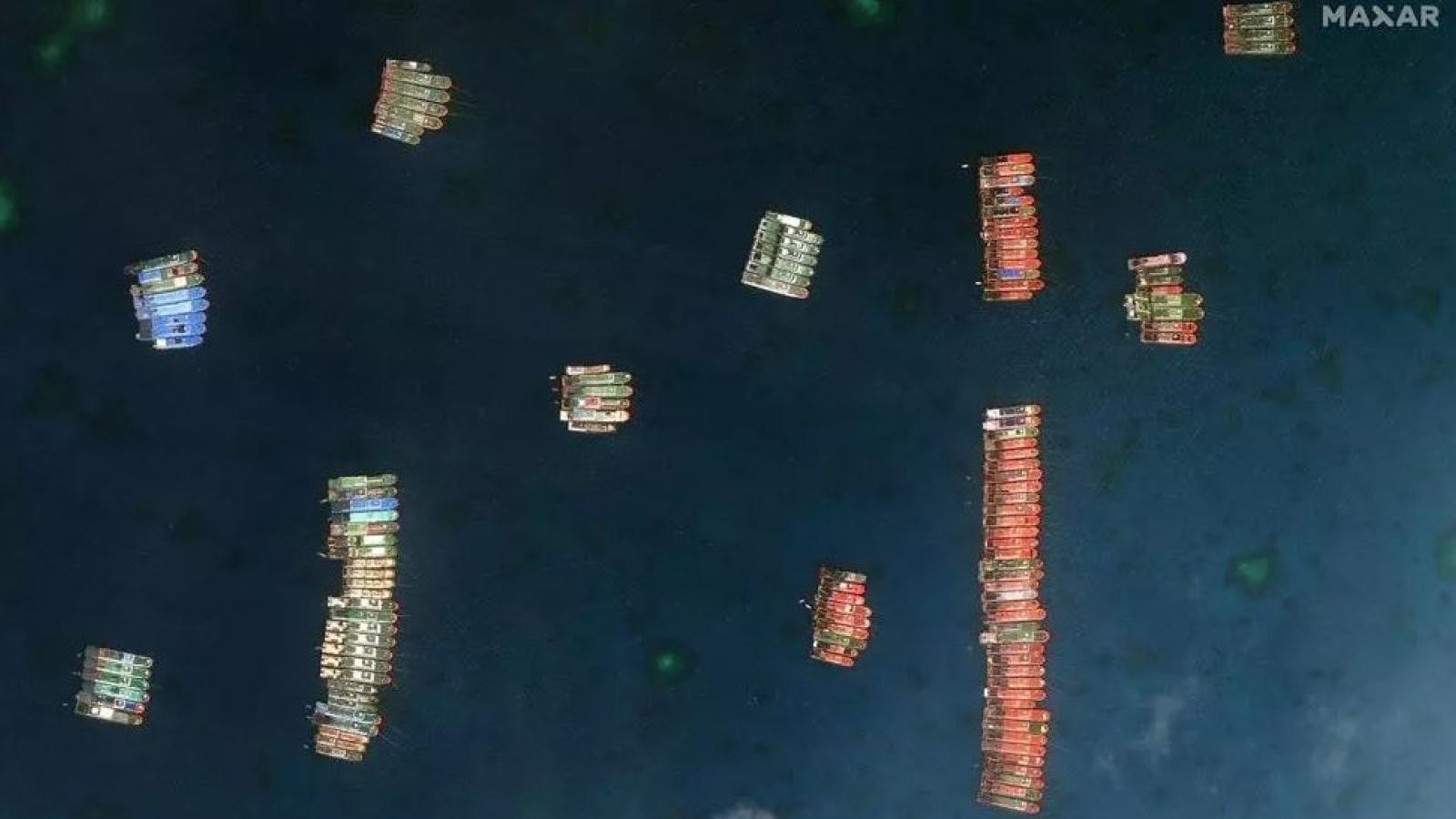 Philippines: Nhóm tàu Trung Quốc đang di chuyển rộng hơn quanh quần đảo Trường Sa