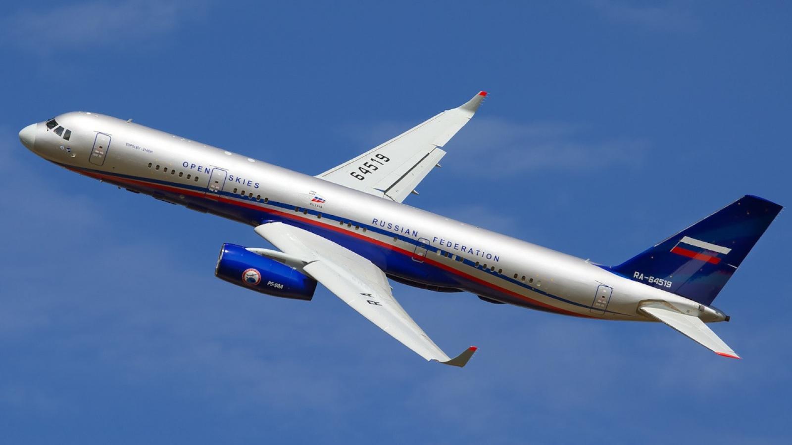 """""""Ngã rẽ mới"""" cho máy bay Tupolev-214ON sau khi Nga rút khỏi Hiệp ước Bầu Trời Mở"""