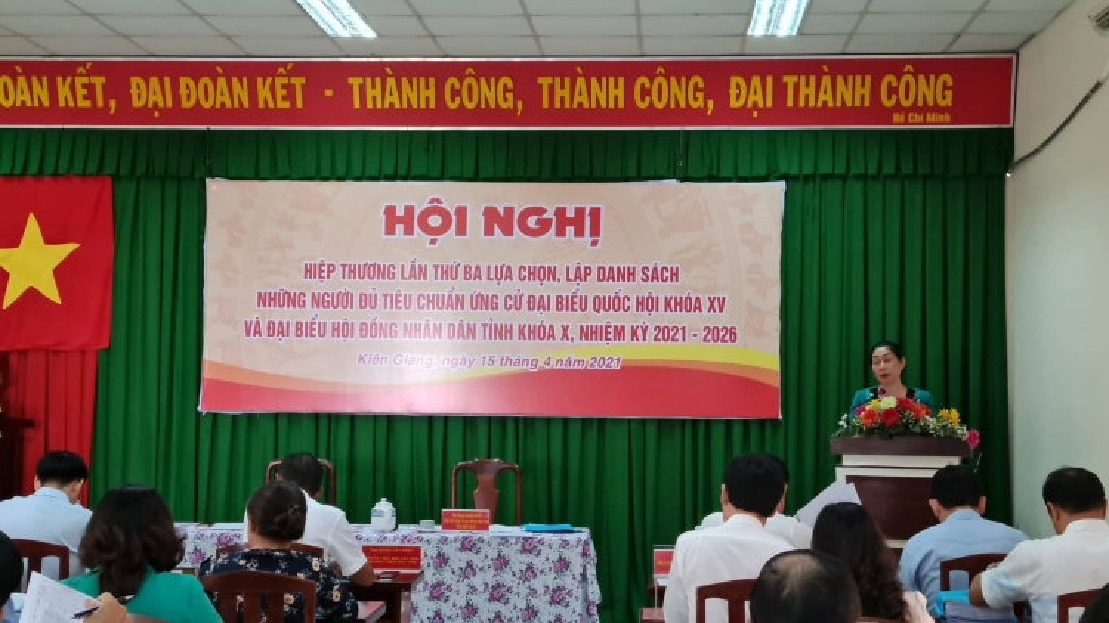 Kiên Giang: Hiệp thương lần 3,11người ứng cử đại biểu Quốc hội và103ứng cử HĐND tỉnh