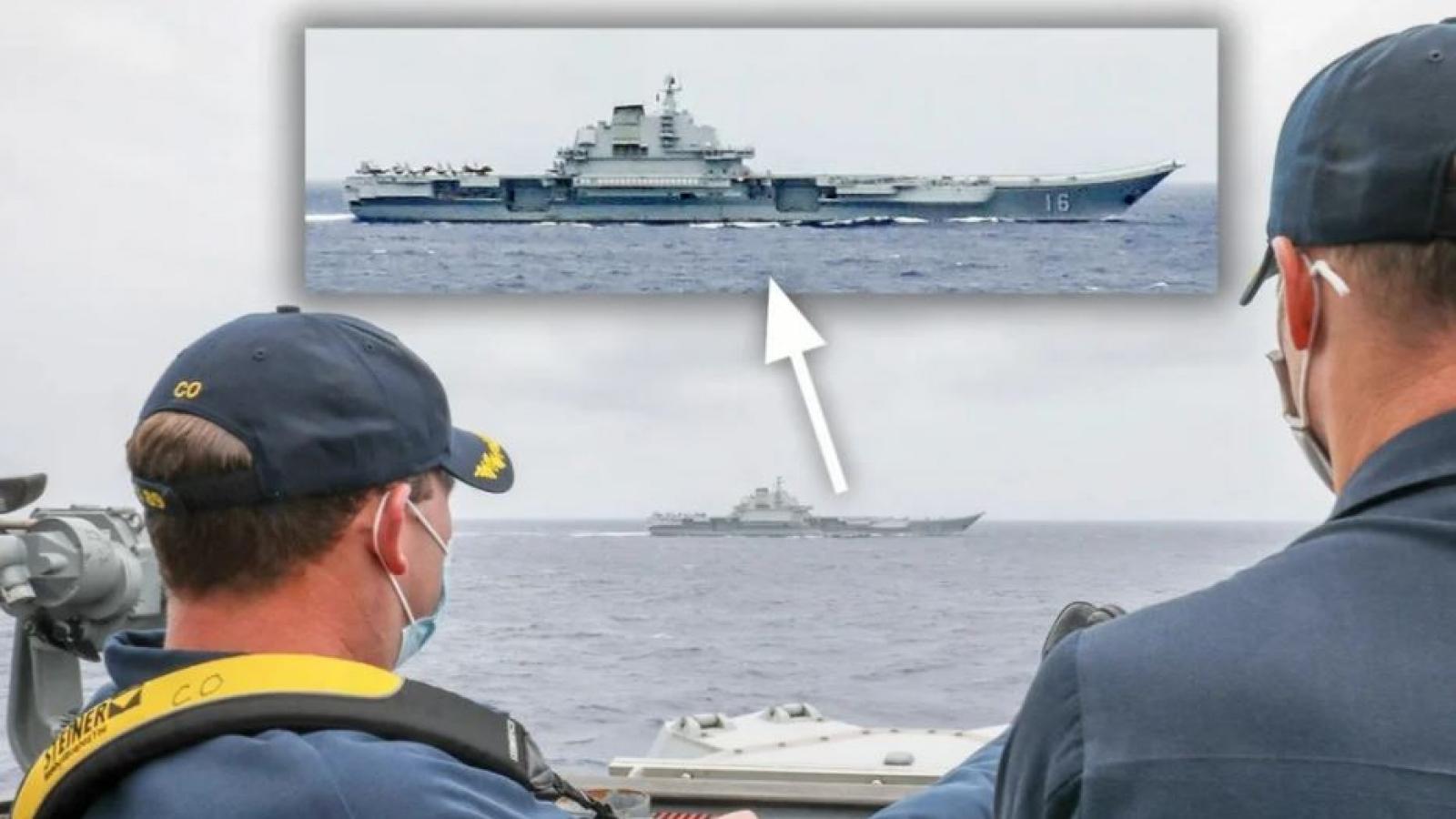 Bức ảnh tiết lộ thông điệp Hải quân Mỹ gửi tới Trung Quốc ở Biển Đông và biển Hoa Đông