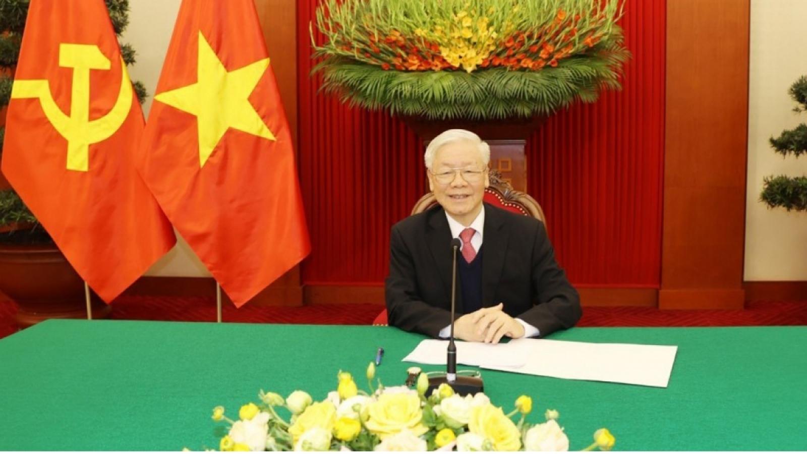 Tổng Bí thư Nguyễn Phú Trọng điện đàm Tổng thống Nga Putin