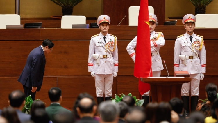 Politburo member Pham Minh Chinh sworn in as new Prime Minister of Vietnam
