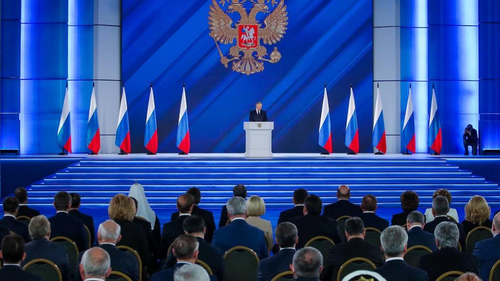 Thông điệp liên bang của Putin: Không đề cập Ukraine, vạch lằn ranh đỏ với phương Tây