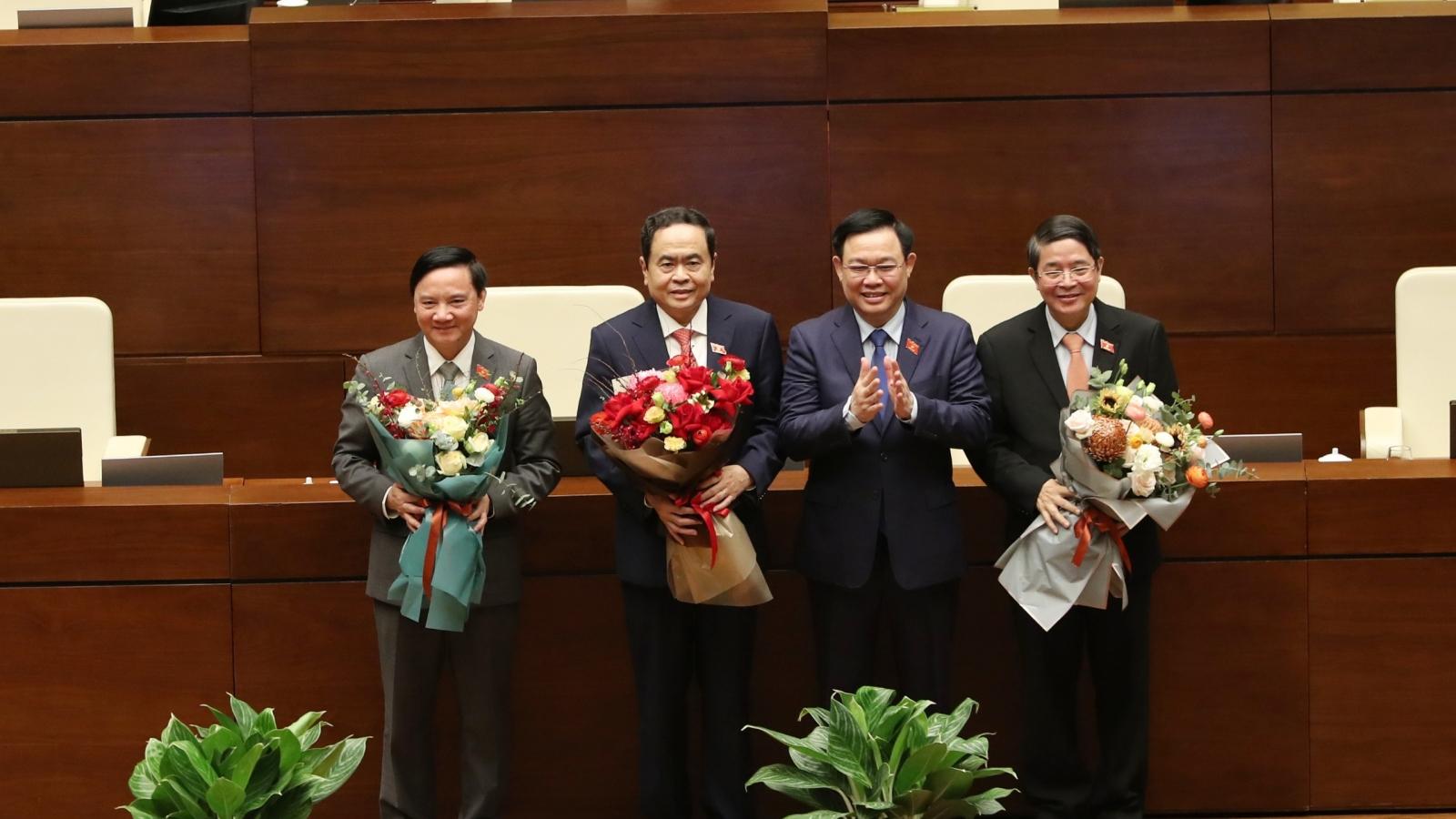 Ông Trần Thanh Mẫn, Nguyễn Khắc Định, Nguyễn Đức Hải trúng cử Phó Chủ tịch Quốc hội