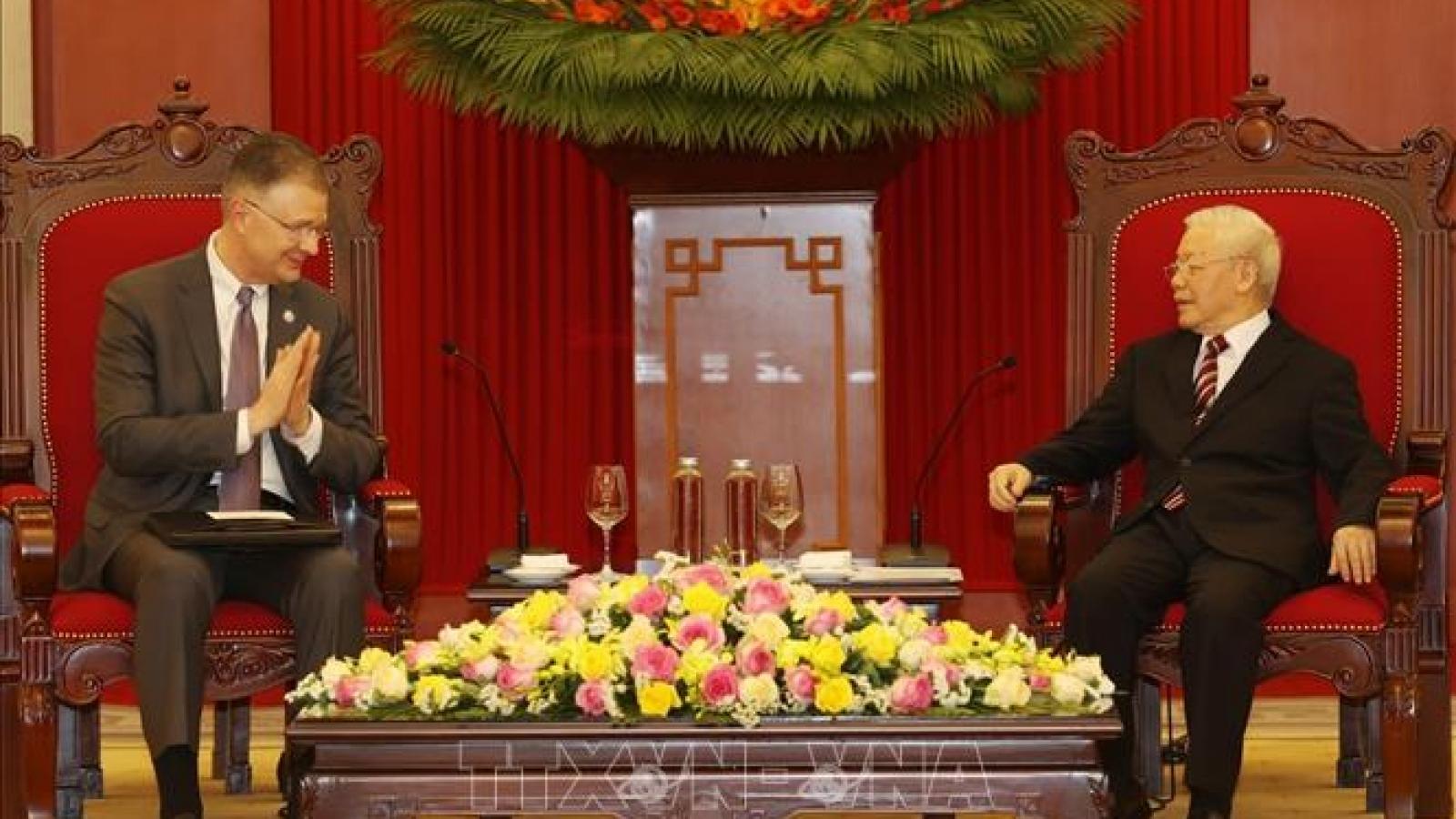 Tổng Bí thư Nguyễn Phú Trọng tiếp Đại sứ Hoa Kỳ Daniel J.Kritenbrink