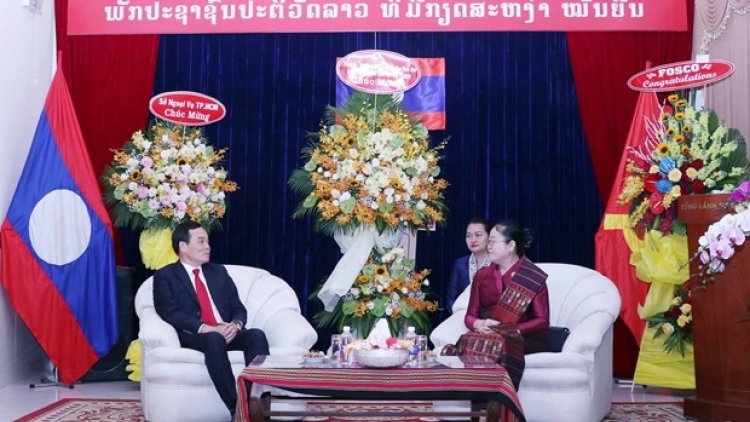 HCM City leaders make New Year visit to Lao Consulate General