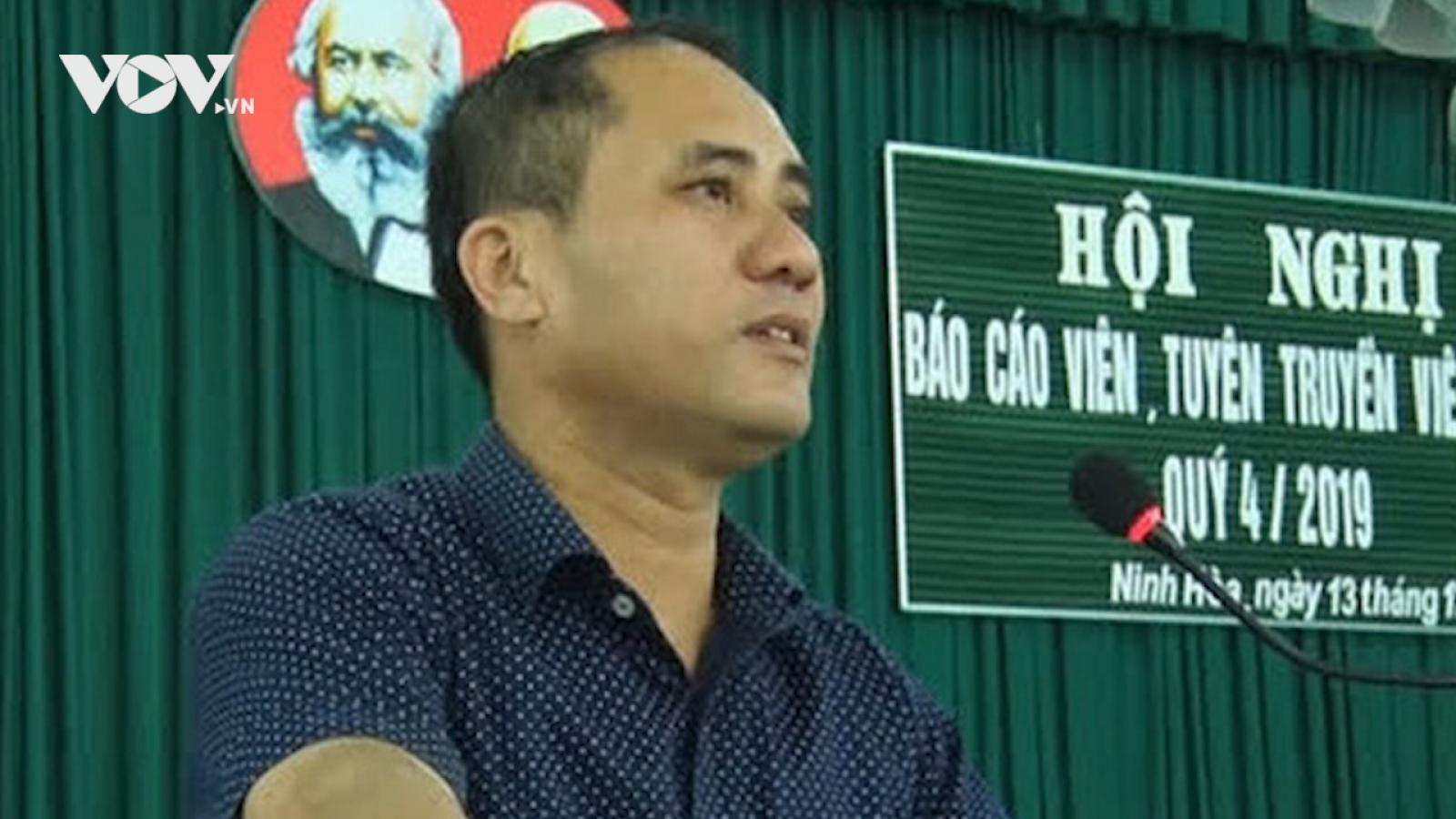 Nghi can đâm chết Bí thư phường Ninh Hiệp là cán bộ Công an TP Nha Trang