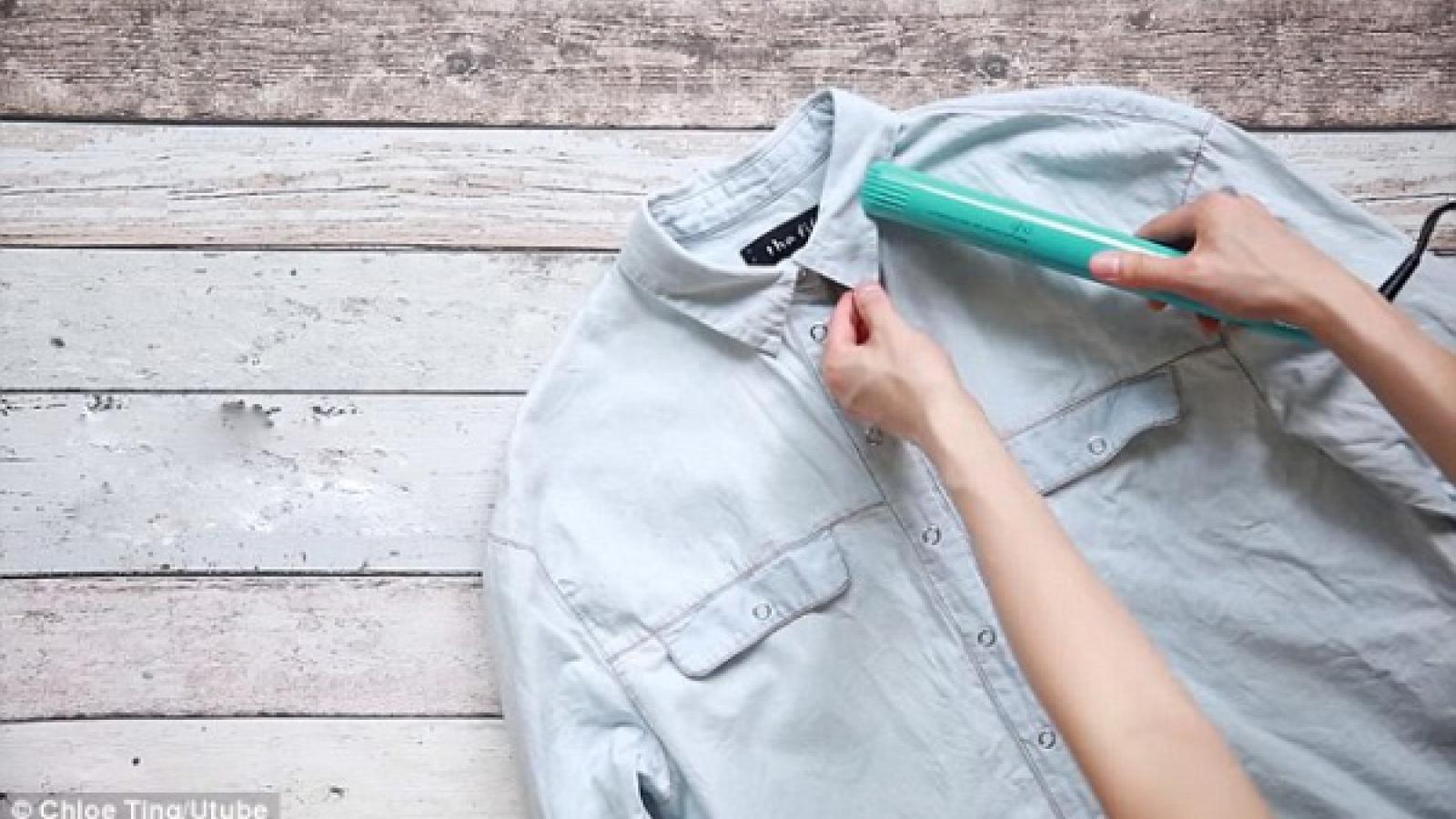 5 mẹo hay giúp quần áo luôn phẳng phiumà không cần là ủi