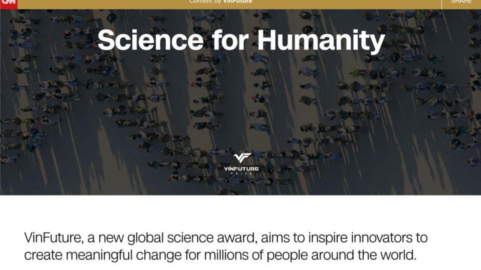 Kênh CNN quảng bá giải thưởng VinFuture trên toàn cầu