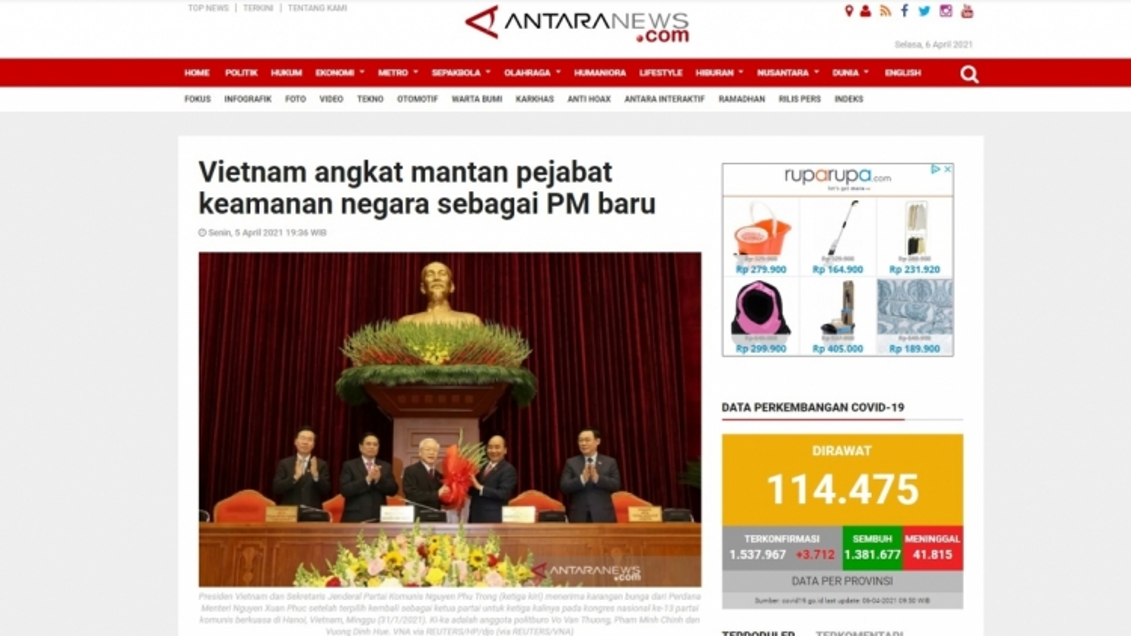 Indonesian media appreciative of new Vietnamese leadership