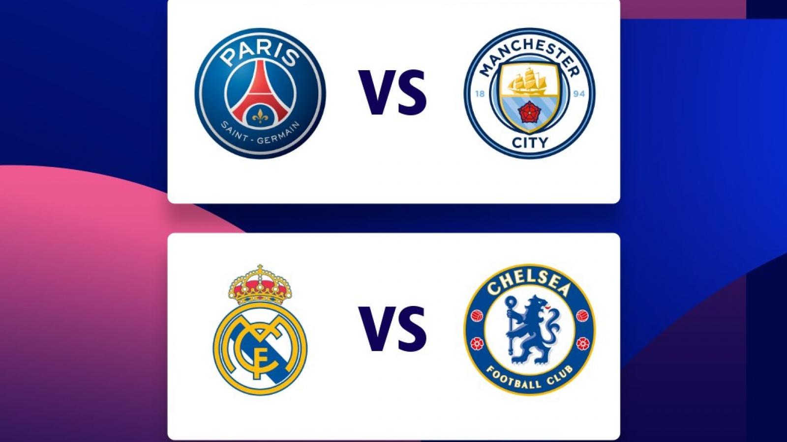 Xác định 2 cặp bán kết Champions League 2020/2021