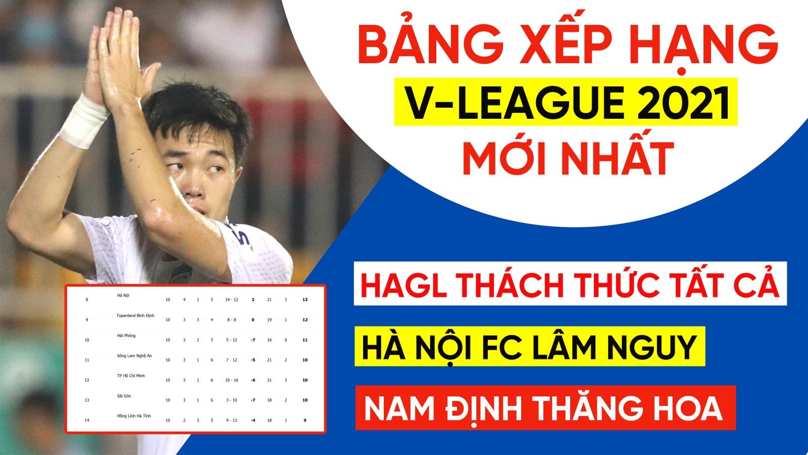 Bảng xếp hạng V-League 2021 sau vòng 10: HAGL không có đối thủ, Hà Nội FC lâm thế khó