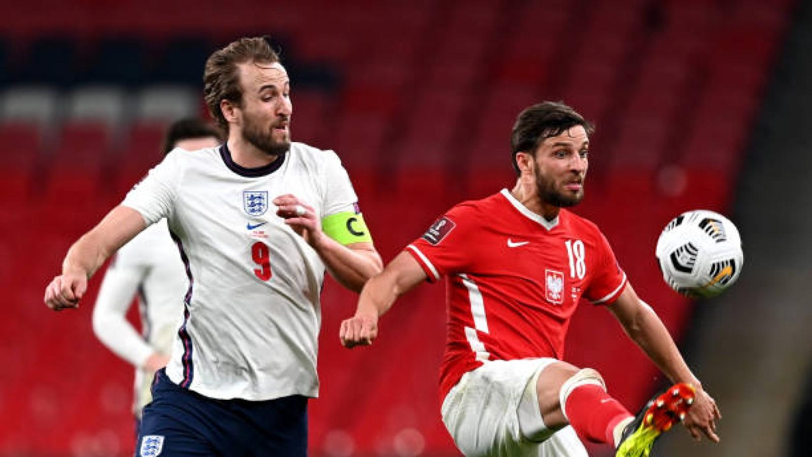Bảng xếp hạng vòng loại World Cup 2022 khu vực châu Âu: Anh lên đỉnh, Đức gây thất vọng
