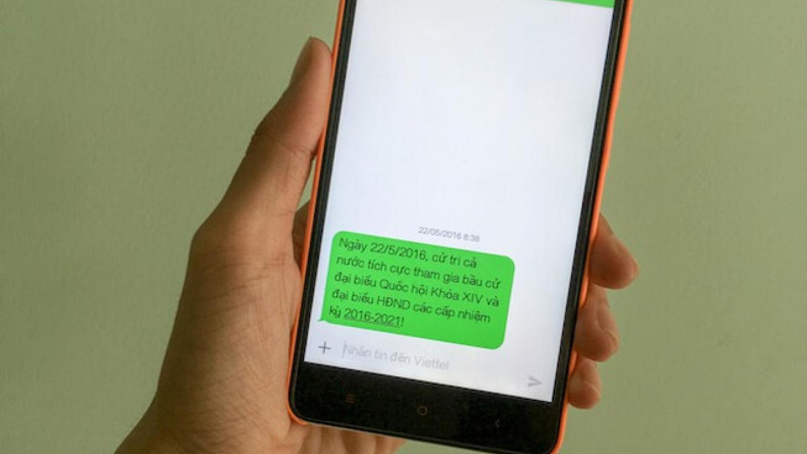 Mỗi cử tri tại TP HCM sẽ nhận được tin nhắn về đi bầu cử qua điện thoại di động