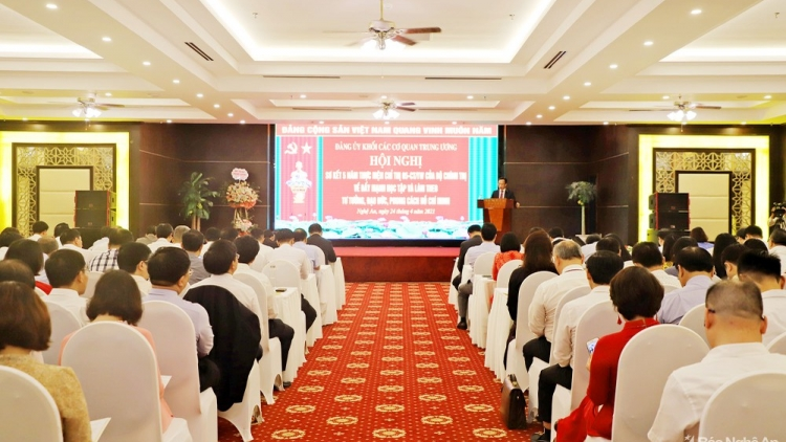 Đảng uỷ Khối sơ kết 5 năm thực hiện Chỉ thị 05 của Bộ Chính trị
