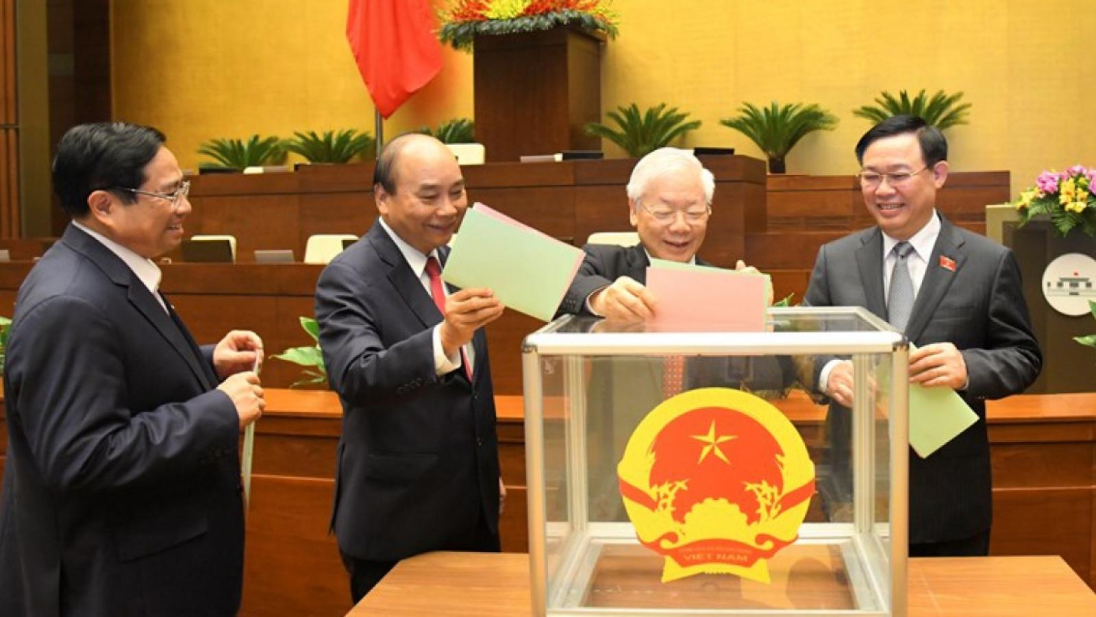 Lãnh đạo nhiều nước chúc mừng lãnh đạo chủ chốt Nhà nước, Quốc hội