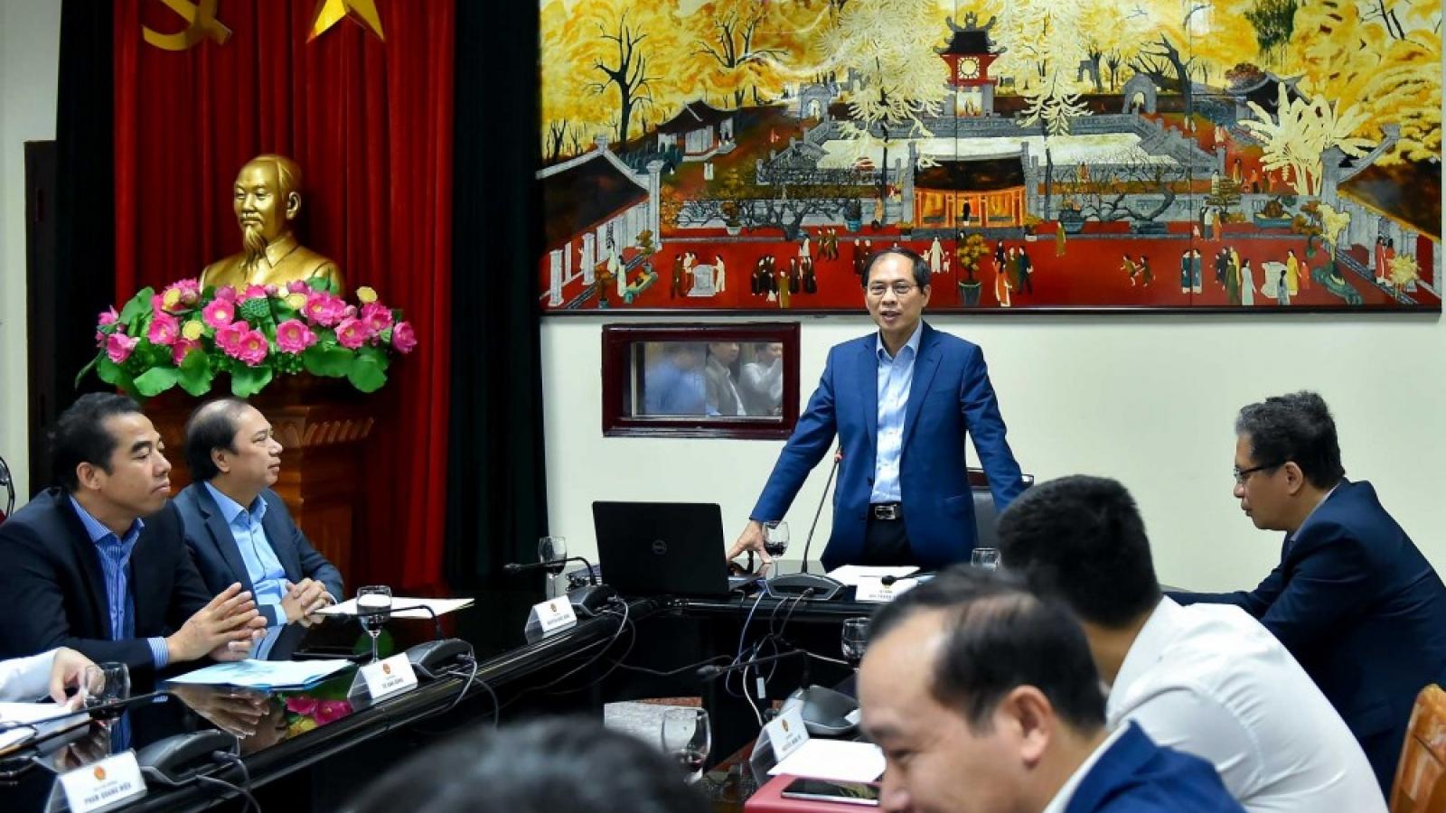 Bộ trưởng Ngoại giao Bùi Thanh Sơn: 5 nhiệm vụ của cán bộ ngoại giao